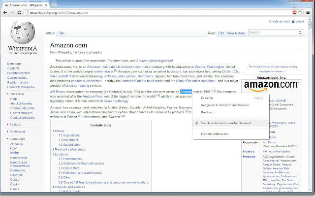Amazon.co.uk - Search highlighted text