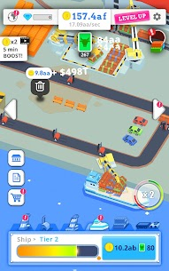 Idle Port Tycoon Mod Apk Download For Android and Iphone 6
