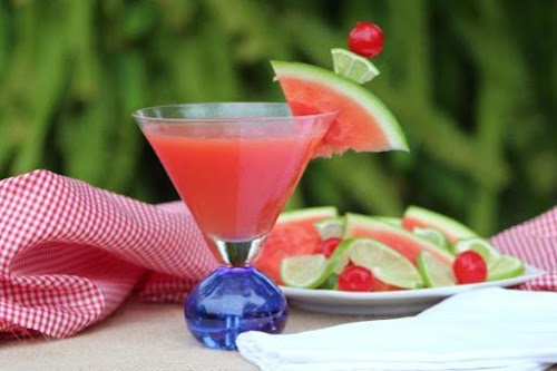 """Tropical Mist Cosmo """"Enjoy this lovely watermelon drink with a hint of..."""
