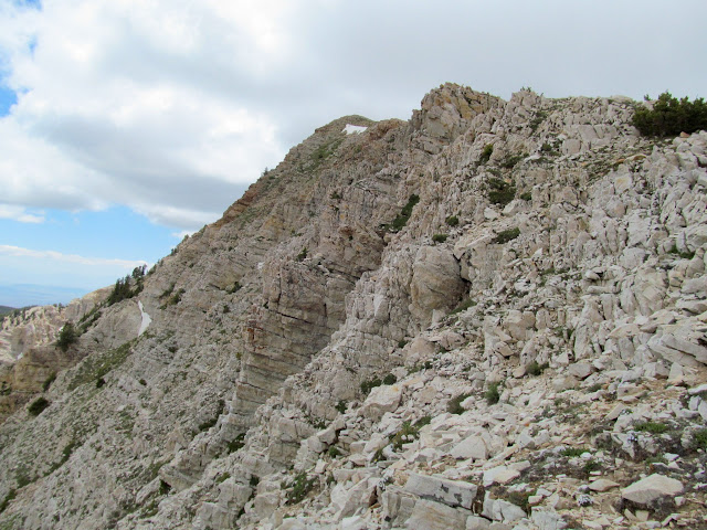 Big cliffs east of Deseret Peak