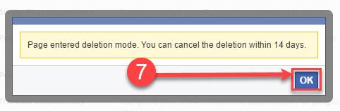 delete my facebook page
