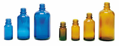 Glasflaska blå - 100 ml