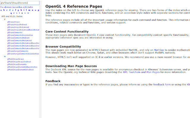 OpenGL Documentation Search