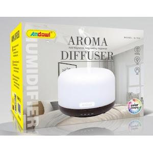 Difuzor uleiuri aromaterapie, 300 ml, led multicolor Andowl Q-T62, Wenge