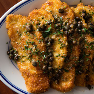Chicken Piccata (Fried Chicken Cutlets With Lemon-Butter Pan Sauce).