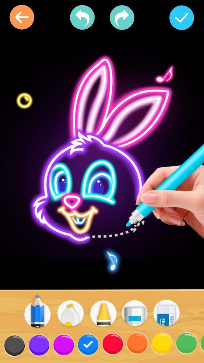 Draw Glow Animals Android 7