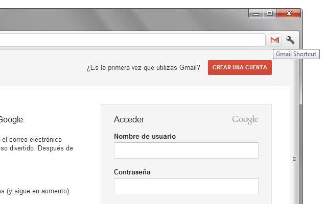 Gmail Shortcut chrome extension