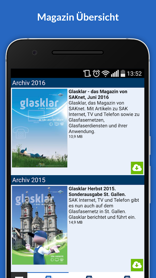 SAKnet Kiosk – Screenshot
