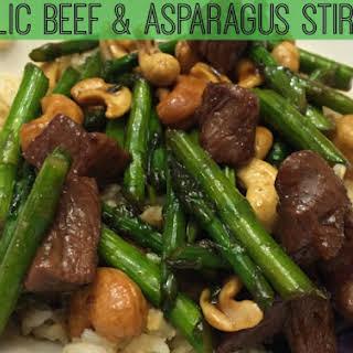 Garlic Beef & Asparagus Stir-Fry.