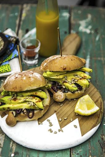 RECIPE | Vegan grilled avocado and caramelised onion burger