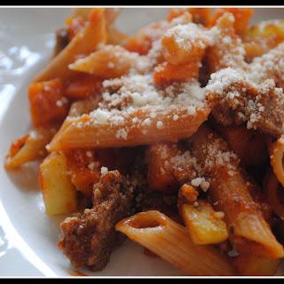 Eggplant Zucchini Bolognese + Weekly Menu