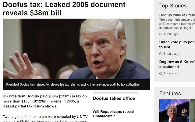 Trump To Doofus