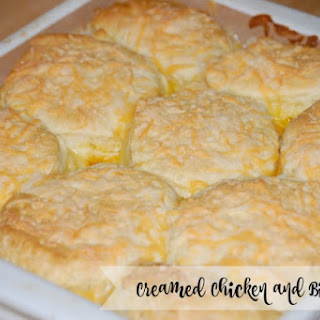 Creamed Chicken and Biscuits