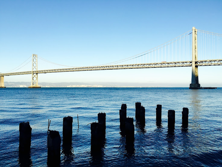 Late afternoon picture of the Bay Bridge.