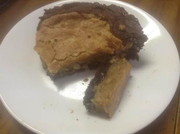 Gooey Peanut Butter Filled Brownie