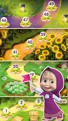 Masha and The Bear Jam Day Match 3 games for kids 1.4.47 screenshots 8