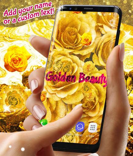 Golden Roses Live Wallpaper ud83cudf39Gold Rose Wallpapers screenshots 1
