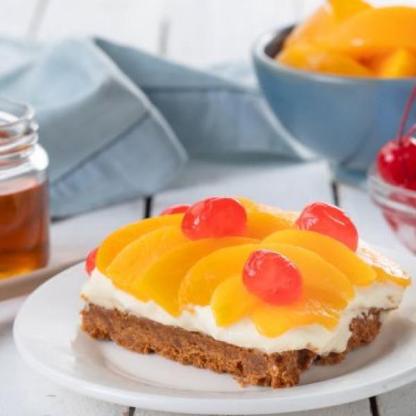 no-bake desserts peach and honey ref cake