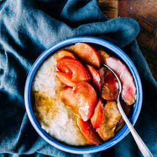 Roasted Stone Fruit Oatmeal.