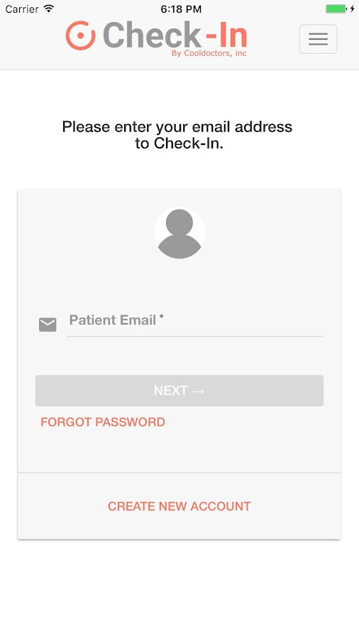 E-CheckIn- screenshot