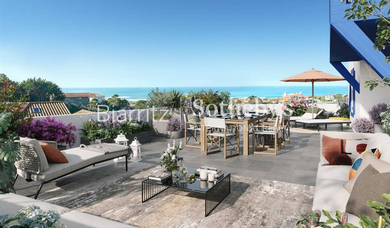 Appartement avec terrasse en bord de mer Biarritz