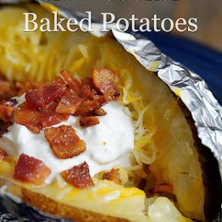 Slow Cooker Baked Potatoes.