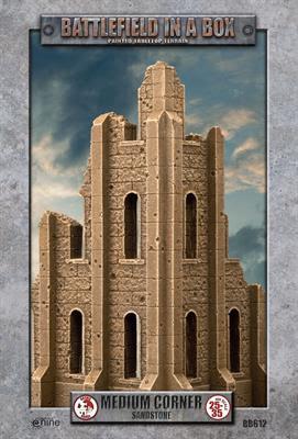 Gothic Battlefields - Medium Corner - Sandstone (x1) - 30mm