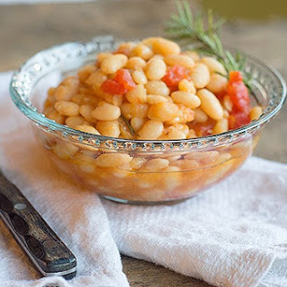 Great Northern Beans with Tomatoes.