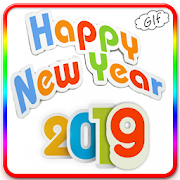 Happy New Year Gif with option to add animated txt