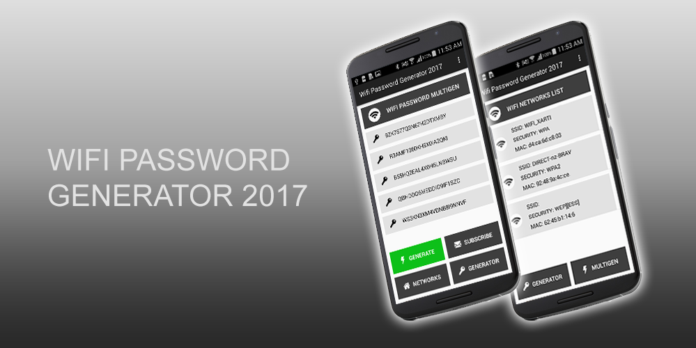 Wifi Safe Password Generator- screenshot