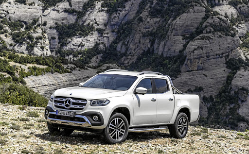 Mercedes has given the new X-Class a similar look up front to its SUV range. Picture: DAIMLER