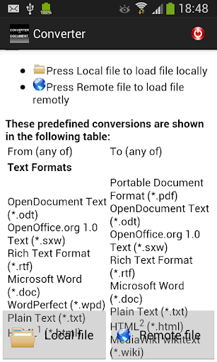 CONVERTER FOR DOCUMENTS