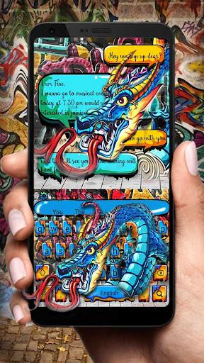 dragon graffiti keyboard screenshot 3