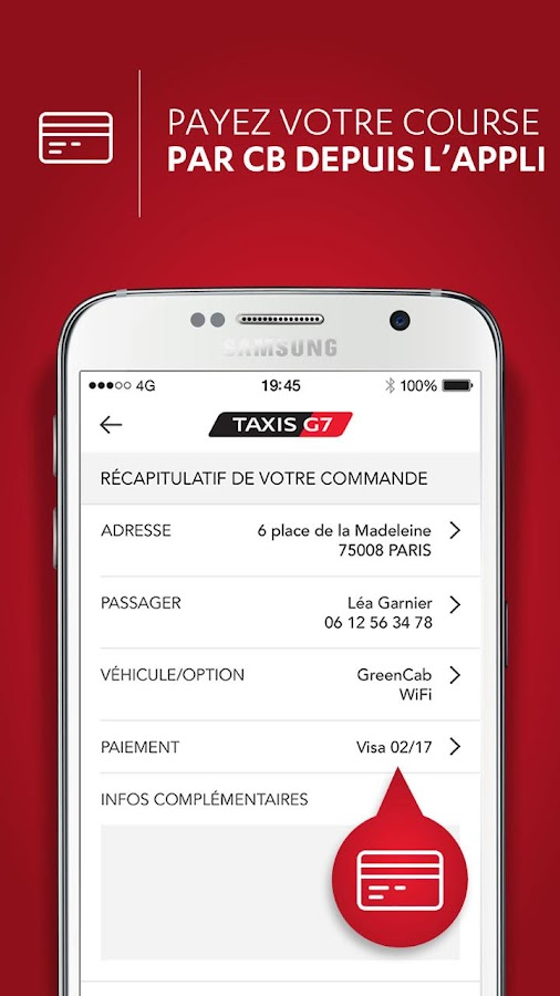taxis g7 particulier paris applications android sur google play. Black Bedroom Furniture Sets. Home Design Ideas