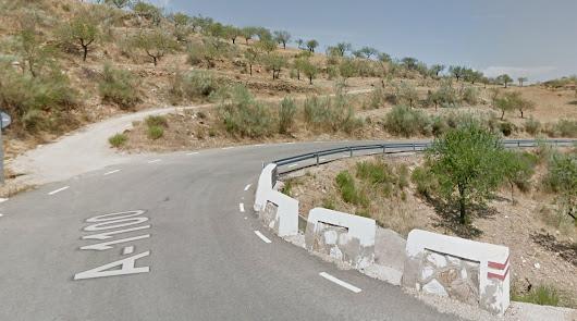 Carretera A-1100, donde ha ocurrido el accidente.