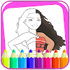 Coloring book moana APK Icon