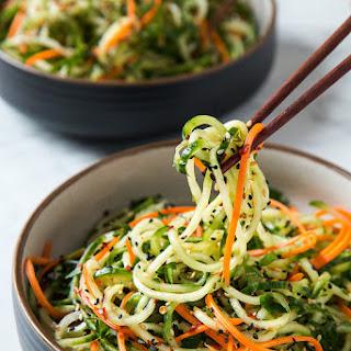 Asian Sesame Cucumber Salad.