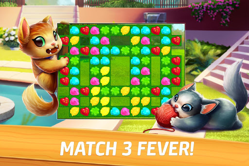 Meow Match: Cats Matching 3 Puzzle & Ball Blast apkpoly screenshots 4