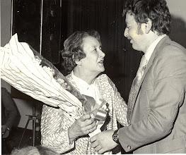 Photo: Joan Brislane is honoured with Life Membership at the Anniversary Dinner. Presentation by Club Chairman, Bryan Ryan