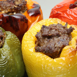 Bacon and Beef Stuffed Bell Peppers.