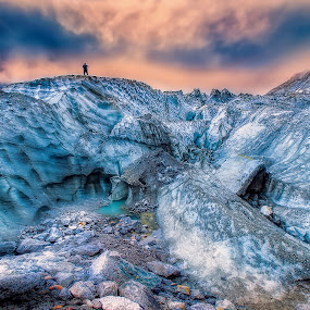 Glacier by Tien Sang Kok - Landscapes Mountains & Hills ( glacier, mountain, nature, fish eye, china )