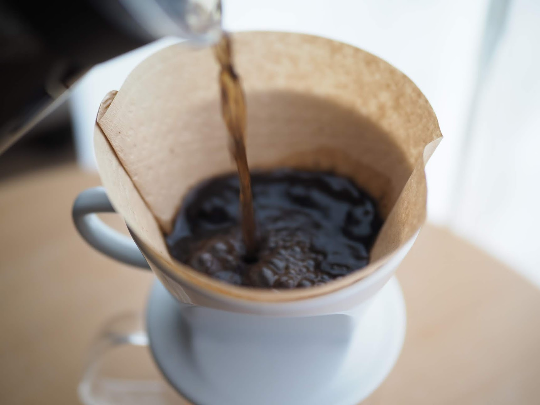 コーヒーを濾す
