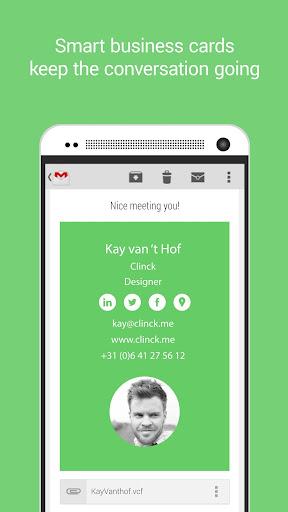 Clinck - smart business cards