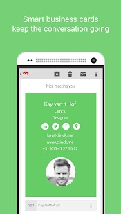 Clinck - digital business card - náhled