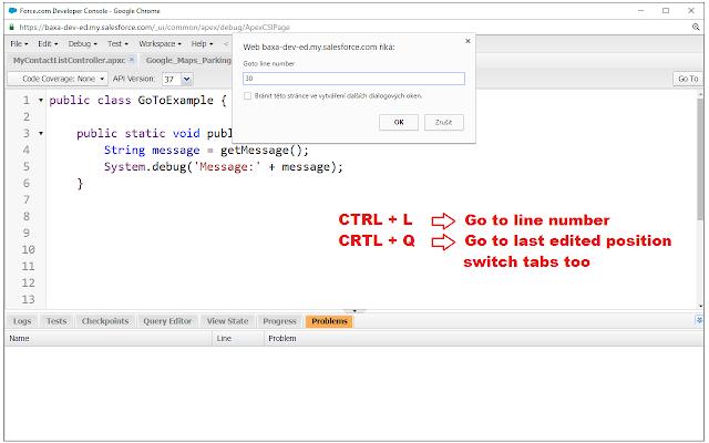 Salesforce.com Developer Console Extension
