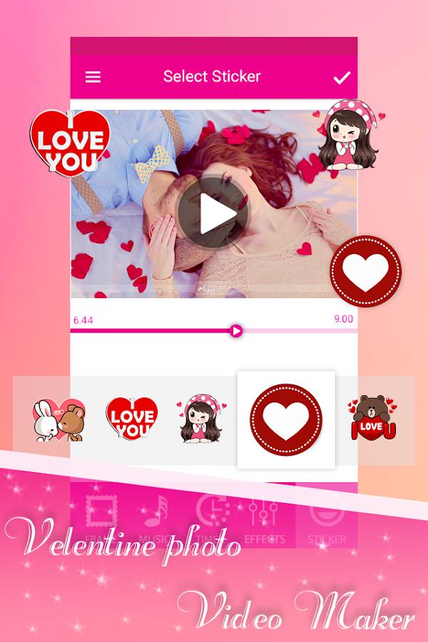 Valentine Day Video Maker 2018 - Slideshow Maker - Android Apps on ...