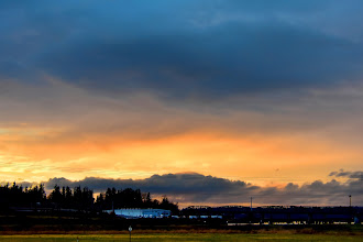 Photo: Sunset Snohomish River, view from I-5 South MP 196)