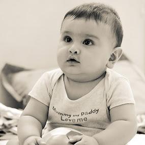 Innocence by Shrey Chohan - Babies & Children Babies ( children, candid, happiness, kids, newborn )