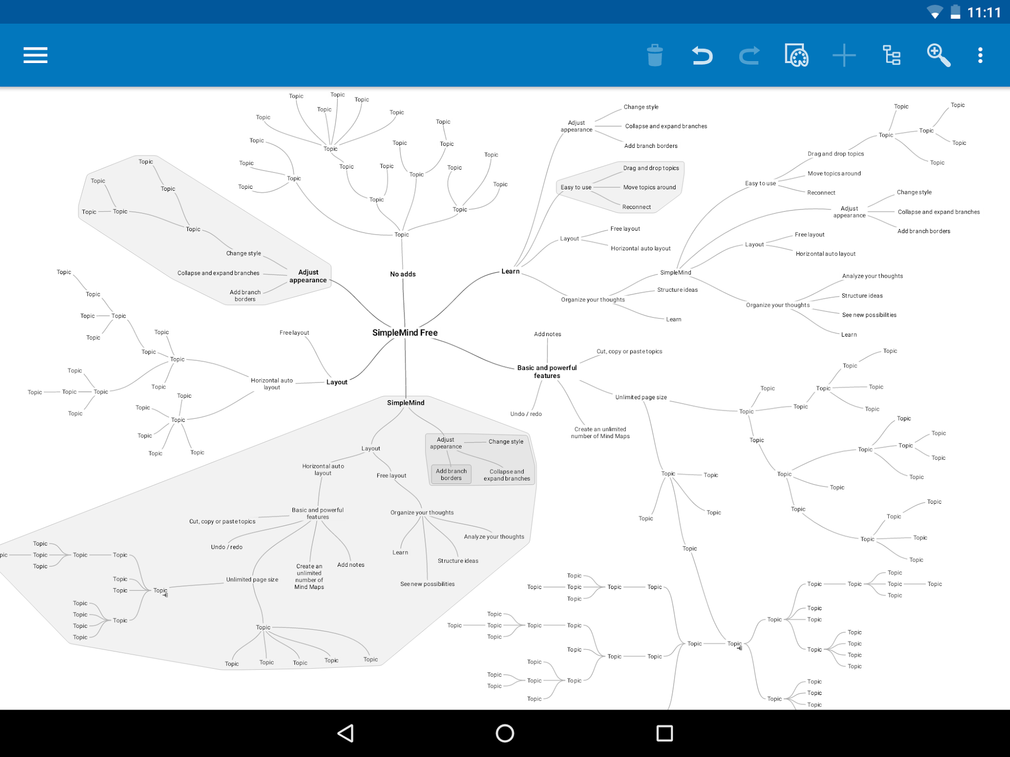 SimpleMind Free mind mapping screenshot #13