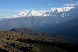Photo: La chaîne de l'Annapurna depuis Chomro Dharmasala